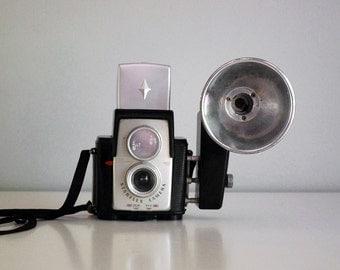 1960s Brownie Starflex Camera Vintage Kodak Kodalite Flash Photography Equipment Electronics Industrial Man Cave Mid Century Decor