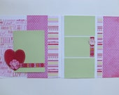 Love Script Premade or  DIY Kit,12x12 Scrapbook Layout,  Scrapbook Page Kit