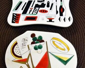 Vintage Lefton Snack Plates Set of Two Made in Japan