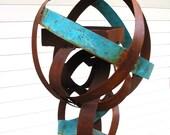 Bird feeder Sculptural Steel & Copper Bird Feeder No. 321 - Freestanding unique modern birdfeeder