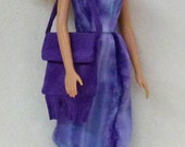 "Purple Suede Purchase individually or as sets Suede Leather Purses and moccasins for 11.5"" fashion dolls"