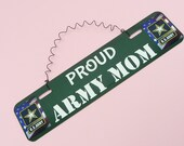 SIGN Proud Army Mom Dad Spouse Wife Husband US Army Gift - Military Family Wall Hanging Decor Cute Metal Twisted Wire Mother