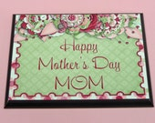 HAPPY MOTHERS DAY Mom | 5x7 inch Wood Plaque | Cute Gift For Mom | Wooden Sign