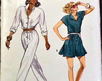 Vintage Sewing Pattern Vogue 7263 Misses' Jumpsuit Bust 30-32 inches  Uncut Complete