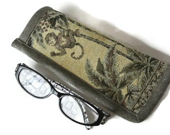 Monkey Tapestry Glasses Case , Sun or Reading Glasses Case , Case for Glasses , Jungle Reading Glasses Cover , Soft Eyeglasses Pouch