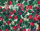 Strawberry Fruit Fabric - 23 inches x 26 inches