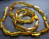 Smooth Baltic Amber Nuggets - 15 inches - 13mm X 7mm - beads - genuine