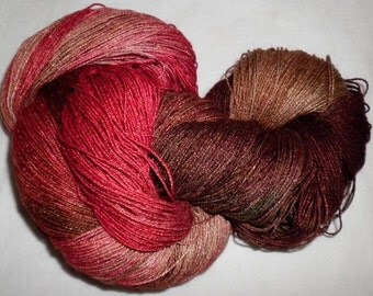 Hand Dyed 100% Bamboo Yarn - MOCCASIN  - 630 yds