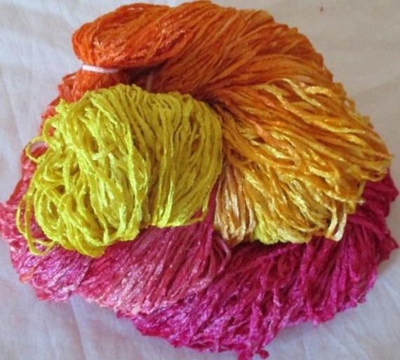 Handpainted Soft Rayon Chenille Yarn by YarntopiaTreasures