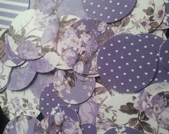 SALE Custom Purple Roses Party Confetti (200)-  3 sizes