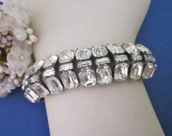 Vintage Rhinestone Bracelet wedding bracelet Bridal Jewelry vintage deco bracelet