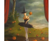 Dance of the Pumpkin Patch. Original Oil Painting