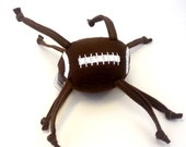 ON SALE Football, Stuffed, Baby Toy, Knotted, Strings, Personalization, Logo, Jingle, Rattle, Game, Brown, sports, ball