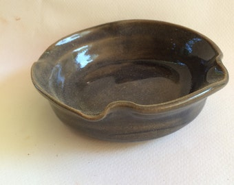 handmade stoneware ceramic pottery bowl great for everyday use, serving, ready to ship B105