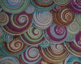 Spiral Shells -new antique color