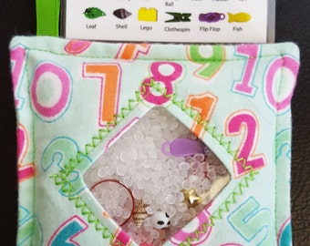 I Spy Bag - Mini with SEWN Word List and Detachable PICTURE LIST- Numbers