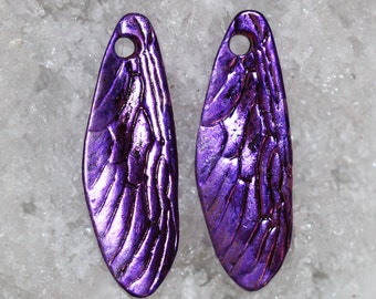 purple dragonfly wing charms by joycelo