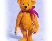 """PDF Pattern & Instructions for Miniature Teddy Bear - Old Worn, Old Pal, and Raggedy Bear 2 1/2"""" tall -  by Emily Farmer"""