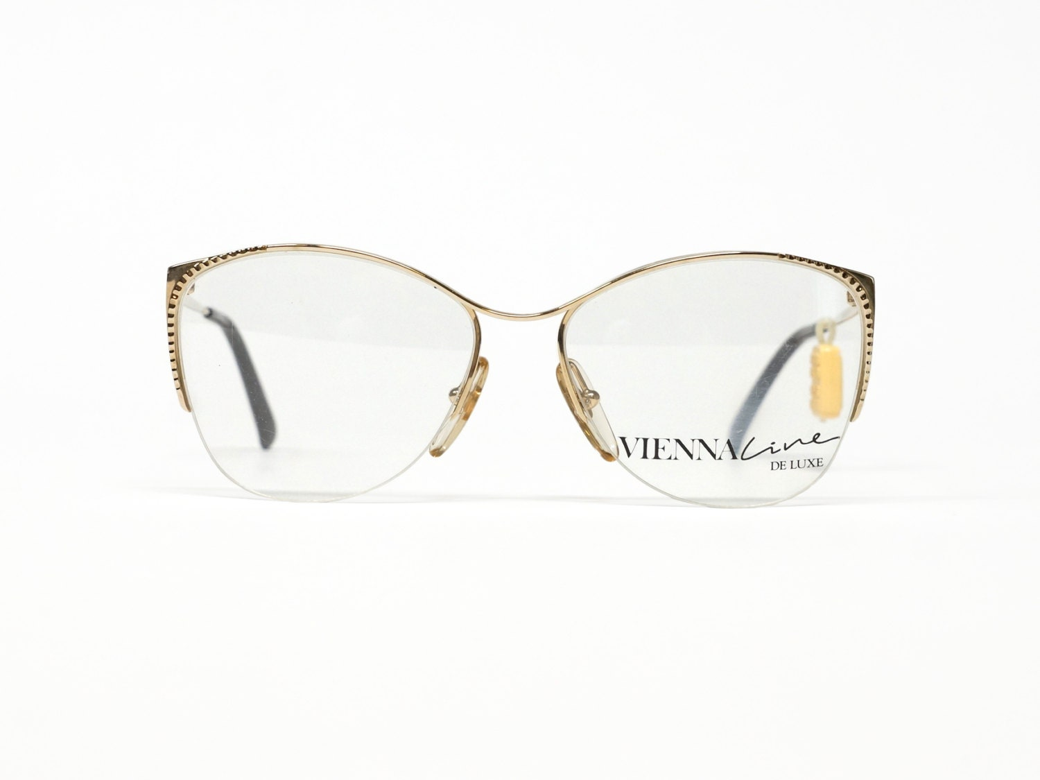 Half Rimmed Gold Eyeglass Frame by Vienna Line made in Germany