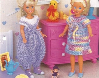 Best Friends, Crochet Doll Clothes Patterns, Annies Fashion Doll, Crochet Club, FCC15-01, Bubble Pants, Doll Dress, Doll Blanket, Toy Duck