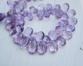 1/2 strand faceted pink amethyst pears WHOLESALE PRICE 25.00