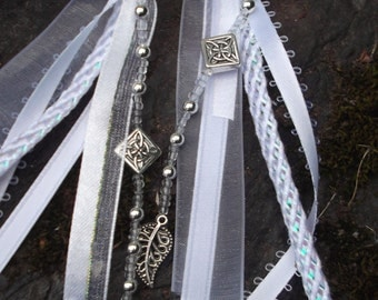 ADD ON Wedding Handfasting Cord - GLASS Beaded Ends with Economy charms U Choose