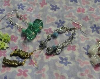 Lot of Five Dangle Pierced earrings