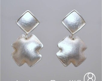 Textured Domed Sterling Silver Earrings