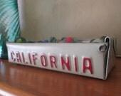 California License Plate Box - Rustic Treasure Tray - Storage Box - Planter - FREE SHIPPING