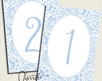 Lacy Table Number Cards