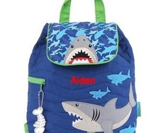 Toddler backpack- monogram backpack- personalized toddler backpack- backpack diaper bag- Shark backpack