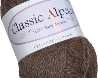 Classic Alpaca 100% Baby Alpaca Yarn #211 Rodeo Rose Grey Brown by The Alpaca Yarn Company - 110 yds per 50g