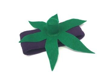 Eggplant Headband- Child or Adult Vegetable Headpiece - Aubergine Costume