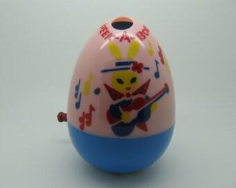 Vintage Mattel Pink Easter Peek A Boo Egg Toy
