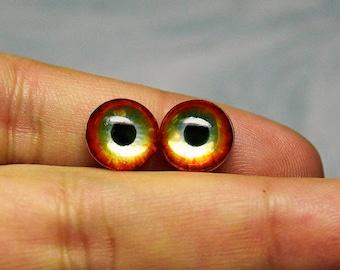 Sale! 10mm Metallic irises color Blaze
