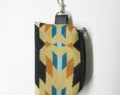 Wool Belt Loop Zippered Pouch Hip Bag Accessory Essentials Case Unisex Southwest Style