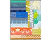 "Robert Kaufman THE COLLECTION Quilt Kit Fabric Pattern 40.5"" x 51.5"" KITP-1208-35"