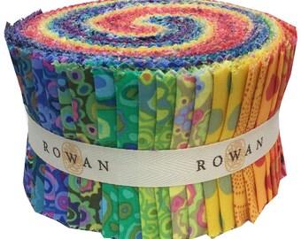 """Kaffe Fassett SPOTS KALEIDOSCOPE Design Roll 2.5"""" Precut Fabric Quilting Cotton Strips Rowan Westminster FB3DRGP.SPOTK"""