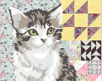 "Moda MEOW OR NEVER Quilt Kit Fabric Pattern 60"" x 72"" Erin Michaels kit26110"