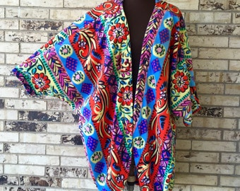 Plus Size Roomy Fleece Jacket/Shrug