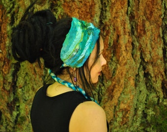 Interstellar Weave Headband, Dread wrap,  Mermaid Shades, Hippie Headband, Hair Wrap, Dreadlock wrap