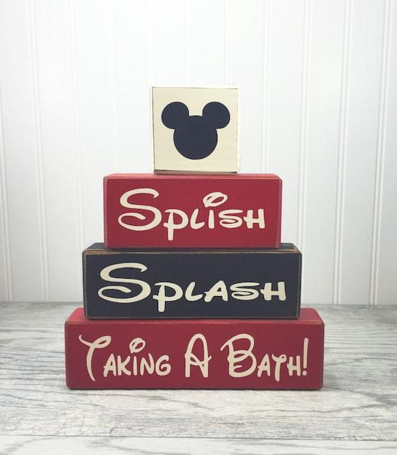 Disney Mickey Mouse Bathroom Decor: Mickey Mouse Bathroom Decor Splish Splash By AppleJackDesign