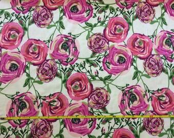 NEW Art Gallery Paradis Sweet on cotton Lycra  knit fabric 1 yard.