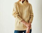 Vintage YSL Yves Saint Laurent Cable Knit Sweater