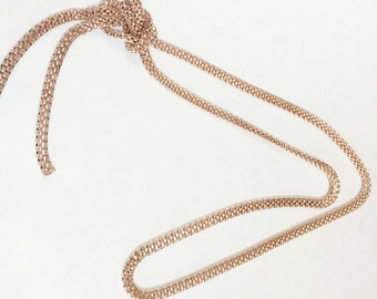 Rose Gold plated pre-cut 1 meter lantern chain, Rose gold plated lantern chain 3.2ft