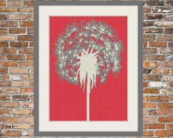 Single Dandelion - Counted Cross Stitch Pattern