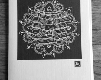 Greeting Card Mandala- Zen art card
