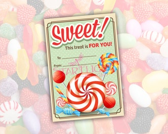 SWEET! Gift Tag - Printable PDF - Instant Download