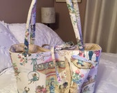 Fashion Diaper Bag Tote French Animal Carnival