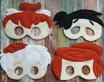 Cave Men Felt Masks * Birthday Party * Gifts * Party Favors * Halloween